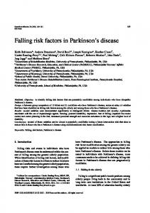 Falling risk factors in Parkinson s disease