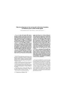 Falta de coherencia en las normas de la American Academy of Pediatrics para la otitis media aguda