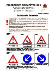 Faltsignale Beispiele