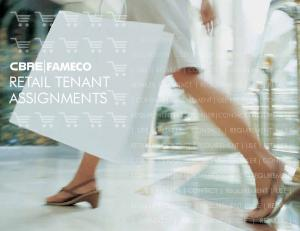 FAMECO RETAIL TENANT ASSIGNMENTS