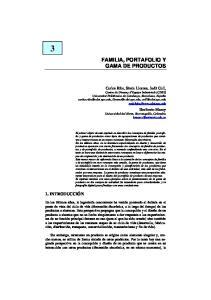 FAMILIA, PORTAFOLIO Y GAMA DE PRODUCTOS