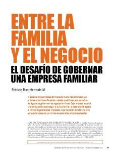 familia y el negocio