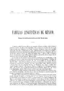 FAMiliAS LINGlllSTICAS DE MEXlCO