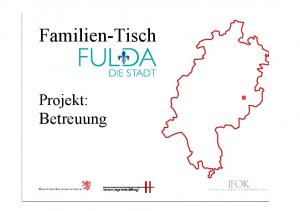 Familien-Tisch. Projekt: Betreuung