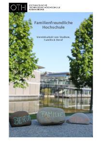 Familienfreundliche Hochschule. Vereinbarkeit von Studium, Familie & Beruf