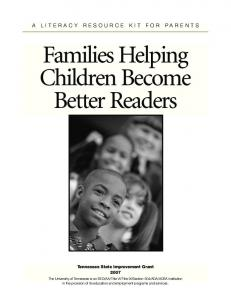 Families Helping Children Become Better Readers