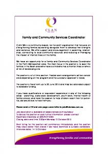 Family and Community Services Coordinator