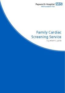 Family Cardiac Screening Service