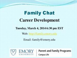 Family Chat Career Development