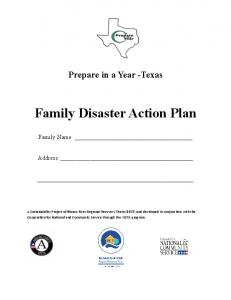 Family Disaster Action Plan