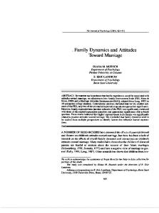 Family Dynamics and Attitudes Toward Marriage