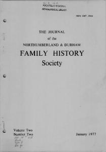 FAMILY HISTORY Society