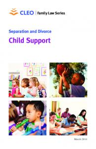 Family Law Series. Separation and Divorce. Child Support
