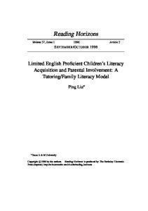 Family Literacy Model