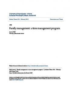 Family management: a time management program