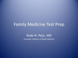 Family Medicine Test Prep