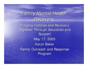 Family Mental Health Recovery