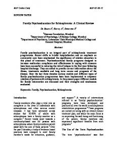 Family Psychoeducation for Schizophrenia: A Clinical Review