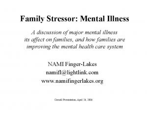 Family Stressor: Mental Illness