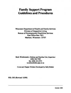 Family Support Program Guidelines and Procedures