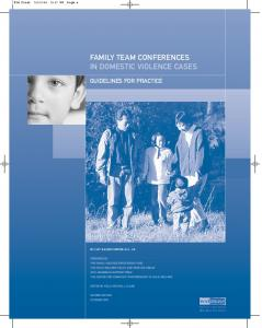 FAMILY TEAM CONFERENCES IN DOMESTIC VIOLENCE CASES