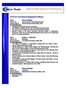 Famous Management Professors