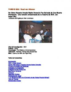 FAMSI 2005: Ruud van Akkeren