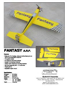 FANTASY A.R.F. Features: Specifications:
