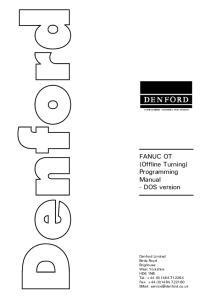 FANUC OT (Offline Turning) Programming Manual - DOS version