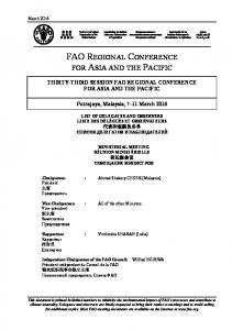 FAO REGIONAL CONFERENCE