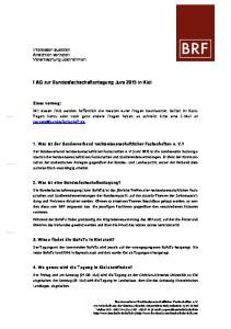 FAQ zur Bundesfachschaftentagung Jura 2015 in Kiel