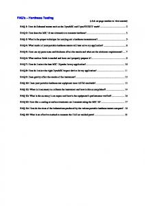 FAQ's Hardness Testing (click on page number to view answer)