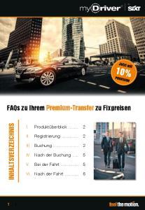 FAQs zu Ihrem Premium-Transfer zu Fixpreisen