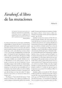 Farabeuf, el libro de las mutaciones