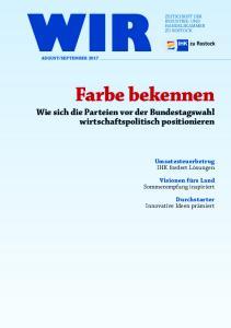 Farbe bekennen Wie sich die Parteien vor der Bundestagswahl wirtschaftspolitisch positionieren