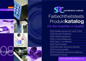 Farbechtheitstests Produktkatalog