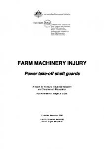 FARM MACHINERY INJURY