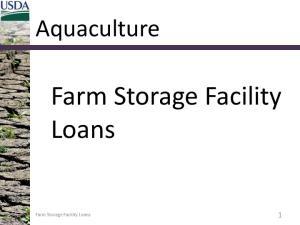 Farm Storage Facility Loans