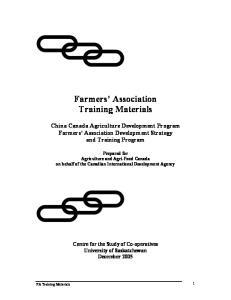Farmers Association Training Materials