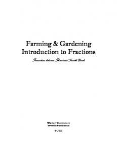Farming & Gardening Introduction to Fractions