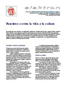 Fascismo contra la vida y la cultura
