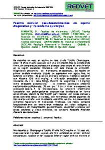 Fascitis nodular pseudosarcomatosa en equino diagnóstico y tratamiento quirúrgico
