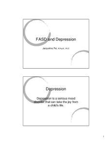 FASD and Depression. Depression