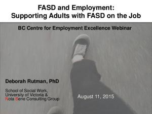 FASD and Employment: Supporting Adults with FASD on the Job