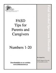 FASD Tips for Parents and Caregivers