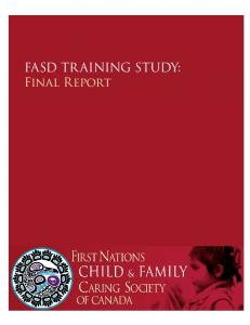 FASD TR AINING STUDY: Final Report