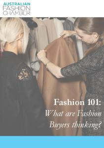 Fashion 101: What are Fashion Buyers thinking?