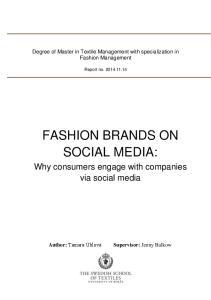 FASHION BRANDS ON SOCIAL MEDIA:
