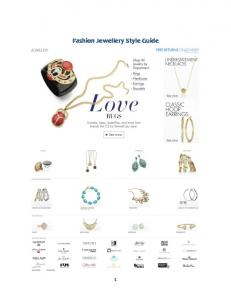 Fashion Jewellery Style Guide