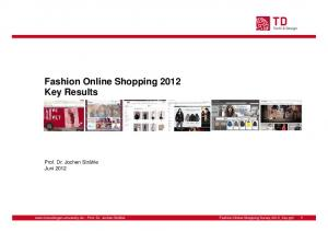 Fashion Online Shopping 2012 Key Results